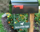 Farm Fresh Eggs Sign for Mailbox: Choose your Color