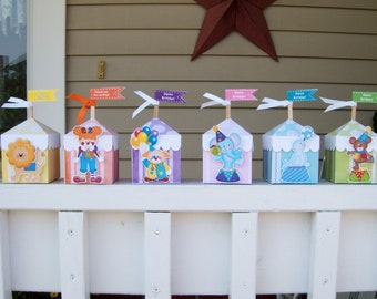 Circus Tent Favor Boxes Set of 12