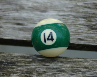 Number 14 Small Pool Ball.