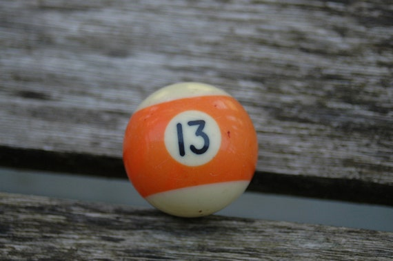 Number 13 Small Pool Ball.