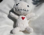 Crocheted Poppet Doll All-natural Materials White