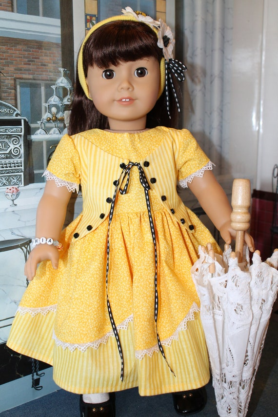 American Girl Yellow Dress for Cecile, Marie Grace