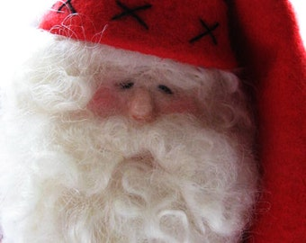 Holiday Decor - Christmas Decor - Santa Claus - Needle Felted Santa - Made To Order
