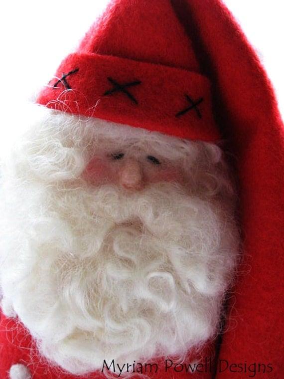 Holiday Decor - Christmas Decor - Santa Claus - Needle Felted Santa - Made To Order