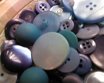 Shades of Blue - Vintage Buttons
