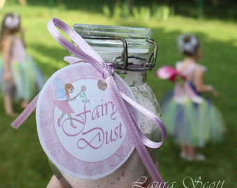 "Fairy Garden party printable 2"" tokens/labels"