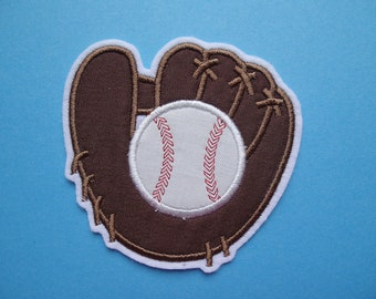items similar to iron on applique patch baseball and bats on etsy. Black Bedroom Furniture Sets. Home Design Ideas