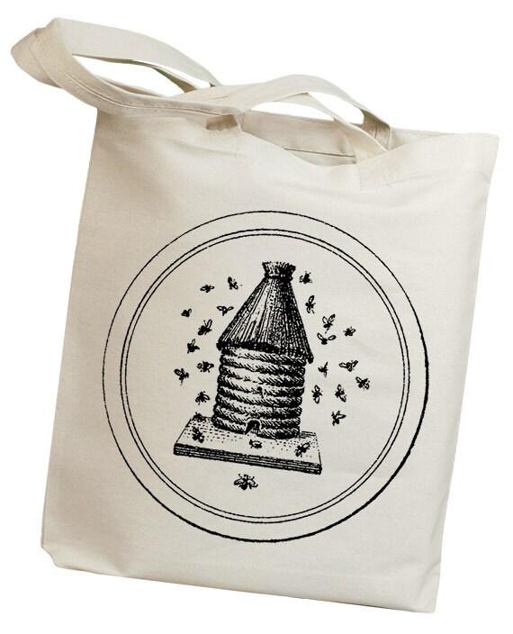 Bee Hive Vintage Eco Friendly Canvas Tote Bag (ili004)