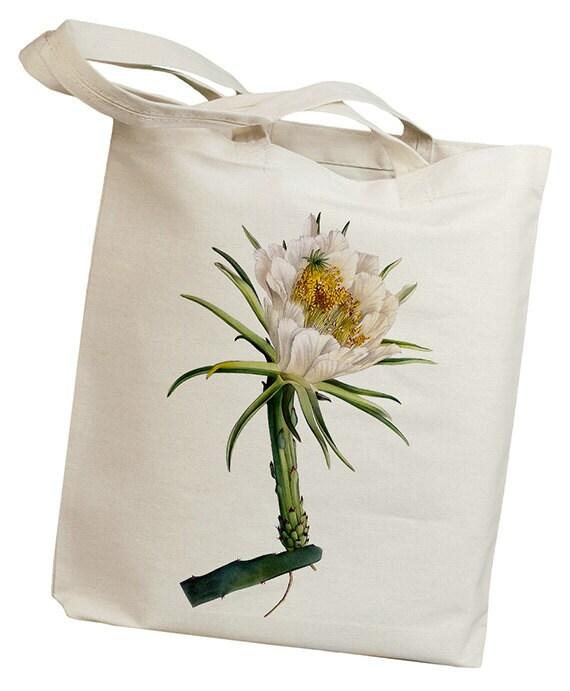 Cactus Flower Vintage 03 Eco Friendly Canvas Tote Bag (id6616)