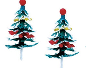 Christmas Tree Cupcake Novelty Toppers 1 Dozen