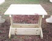 Custom Made Adirondack Style Side Table Made To Last Unfinished Ready for Paint or Stain