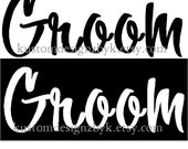 iron on Groom wedding shirt decal transfer
