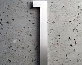 Modern House Number Aluminum Modern Font Number One  1