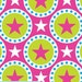 """50cm Jersey """"Stars in lime-pink"""" Sweden Design patterned fabric"""