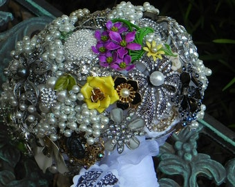 Custom Brooch Bouquet Made to Order  .....  Deposit Listing