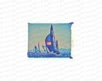 Sailing & Spinnakers Giclee Polaroid Print