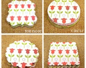 Pick your Shape Die Cut / Spring All Over / Scapbooking Embellishments / Gift Wrap / Party Decoration / DIY Garlands, DIY Cupcake Toppers