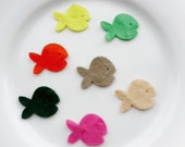 Felt fish x 30 in a variety of colours  (die cut felt fabric)