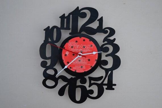 Vinyl Record Wall Clock (artist is Rod Stewart)