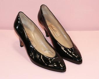 Black Patent Heel/Amalfi/Italian Leather/Sz 5B