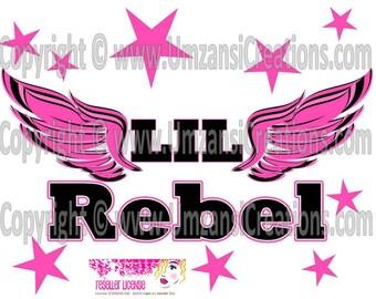 "DIY Printable ""LiL Rebel"" Iron On Transfer (PNG Digital Image)"