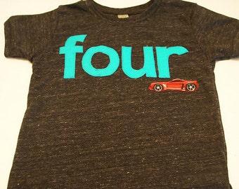 Race car Birthday Tee Organic Blend Black Shirt Boys Birthday Shirt  hot rod vintage car birthday