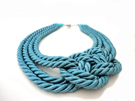 Turquoise Summer Fashion Nautical Sailor's Knot Rope Necklace