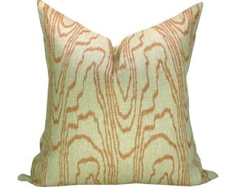 Kelly Wearstler Agate pillow cover in Salmon/Linen