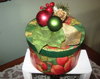 Christmas Poinsettia Box