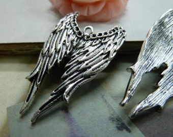5pcs 24x40mm Antique Silver Angel Wings-  Chains/Charm Pendant tB369