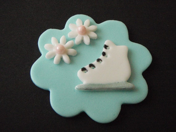 Ice Skating Cupcakes Ice Skate Edible Fondant
