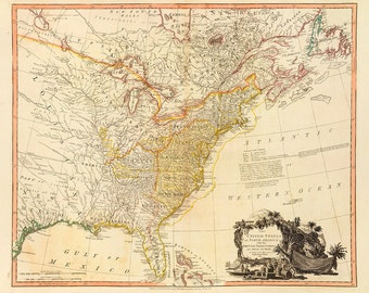 1796 Map of America