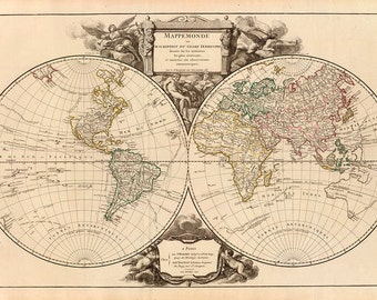 1752 Map of The World