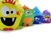 Monster Cupcake Wrappers - set of 12