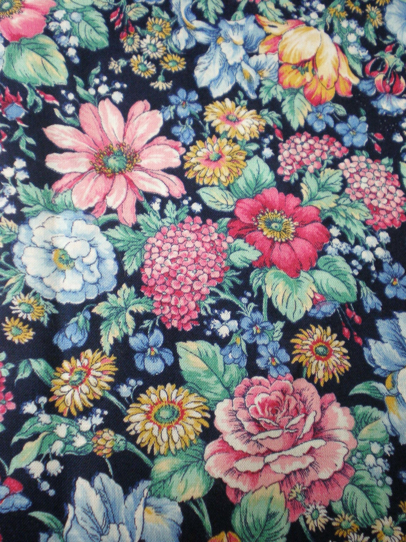 COTTON PRINT FABRIC +++ VINTAGE FLORAL ++ BLUE | eBay |Vintage Floral Fabric