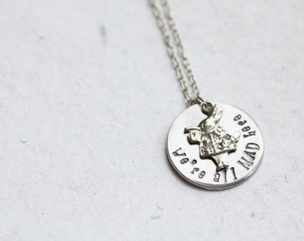 "Alice in Wonderland ""We're all MAD here"" Necklace"