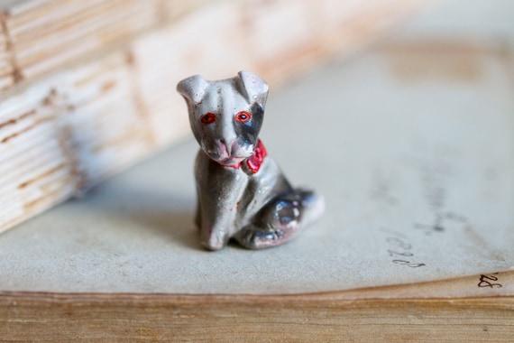 Tiny Weenie Puppy - Miniature Ceramic Dog Figurine