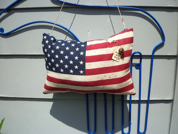 Vintage Grand Old Flag hanging pillow