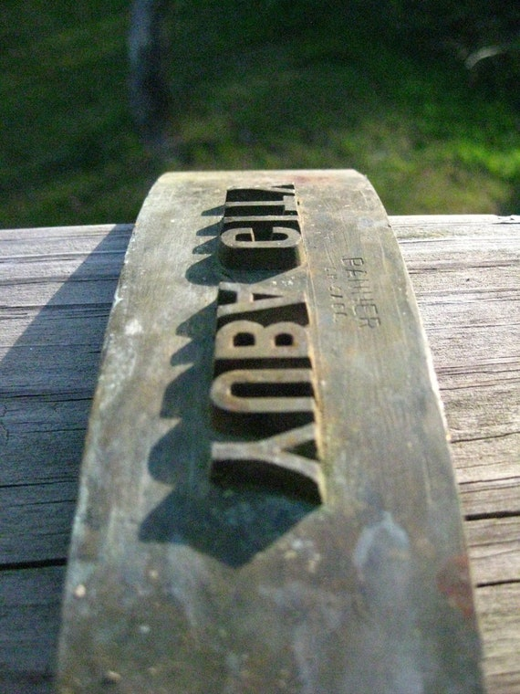 Yuba City, California printing plate/wooden crate stamp