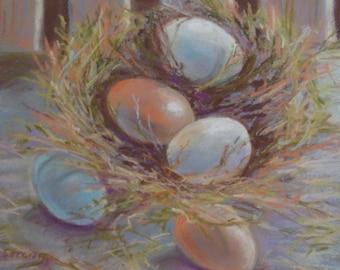 The Nest Original Pastel, Blue and Orange color