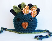 CROCHET PATTERN Peacock Earflap Hat (4 sizes included from newborn-10 years) Instant Download