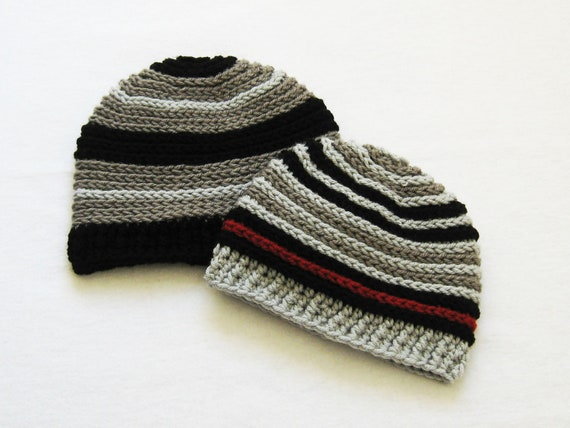 CROCHET PATTERN Back Ridge Beanie (6 sizes included from newborn to adult man) Instant Download