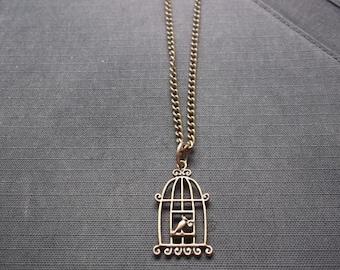 A Bird necklace/vintage necklace/Thailand Necklace/cutie Necklace/Simple jewelry/Summer accessories/Hawaii Necklace/Sea/sand/sun/mom/mother