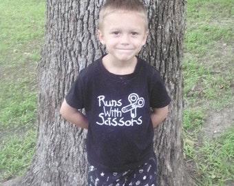 Set-School Runs with Scissors T-shirt and Black School Shorts