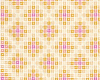 36107  Erin McMorris Weekends Hopscotch in Butter color- 1 yard