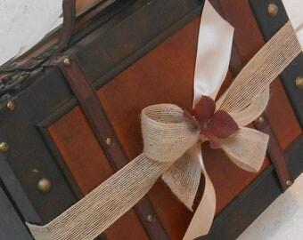 Rustic Suitcase Wedding Card Holder / Wedding Card Box