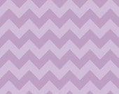 1/2 yard LAMINATED cotton fabric - 18 x 40 - Lavender tonal Chevron yardage - Approved for children's products - easter fabric - purple
