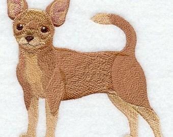 Realistic Chihuahua Embroidered Flour Sack Hand/Dish Towel