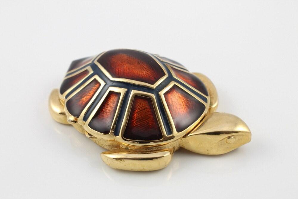 Vintage Turtle Tortoise Estee Lauder Solid Perfume Cinnabar