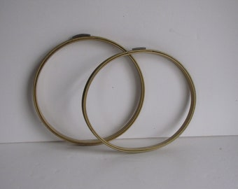 Vintage Metal Round Embroidery Hoops - set of two